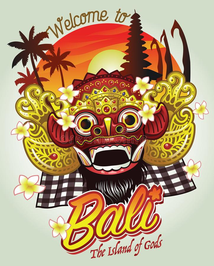 Welcome to bali design royalty free illustration