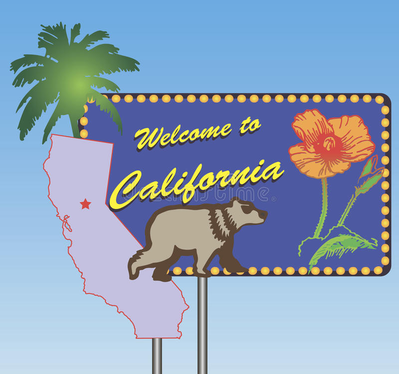 Welcome to California royalty free illustration