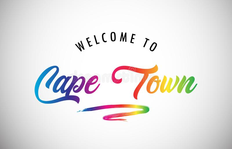 Welcome to Cape Town poster royalty free stock image