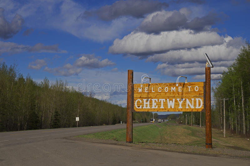 Download Welcome to Chetwynd editorial image. Image of cloud, blue - 50192730