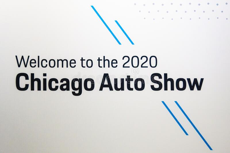 Welcome to the 2020 Chicago Auto Show royalty free stock photography