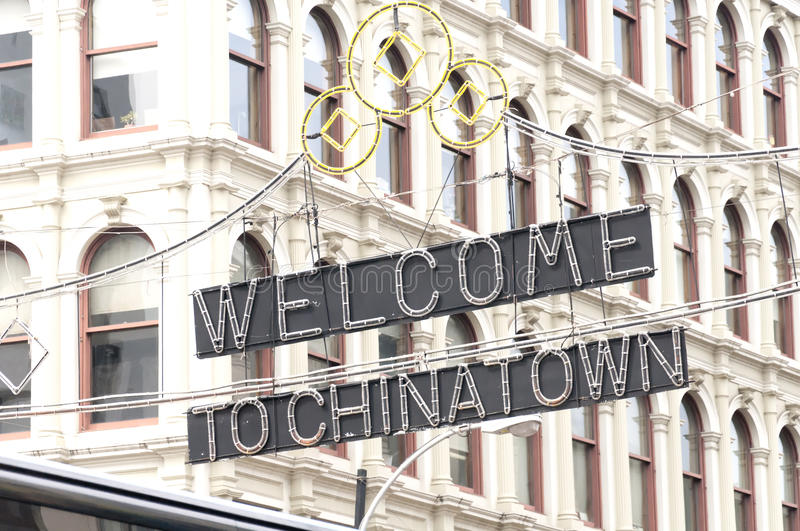 Welcome to China Town stock photography