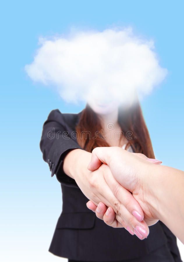 Welcome to Cloud computing future world royalty free stock photos