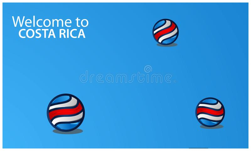 Welcome to Costa Rica poster with Netherlands flag, time to travel Netherlands. vector illustration isolated stock illustration