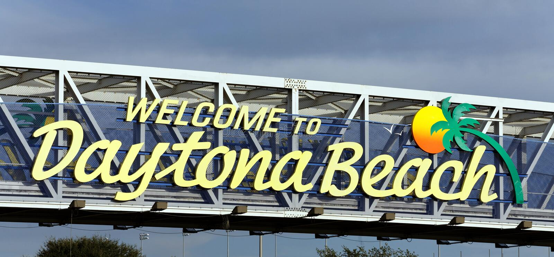 Welcome to Daytona Beach royalty free stock photography