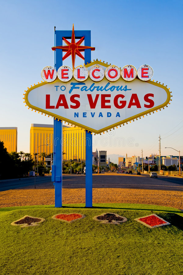 Welcome to Fabulous Las Vegas royalty free stock image