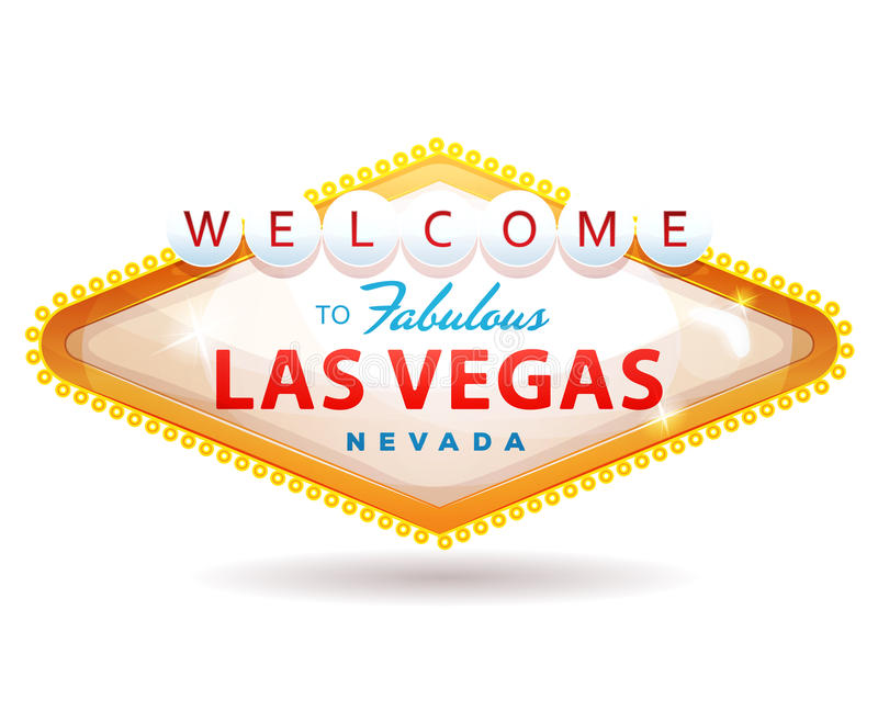 Welcome To Fabulous Las Vegas Sign stock illustration