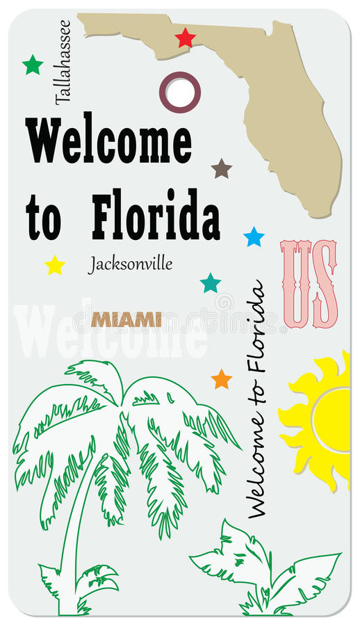 Welcome to Florida - Mark vector illustration