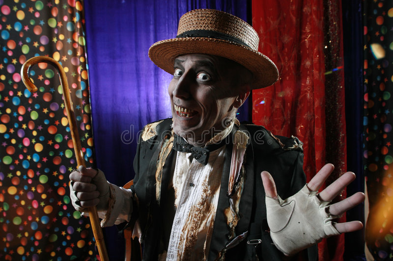 Welcome to the freak show. Mr. Dead welcomes the viewer royalty free stock photos
