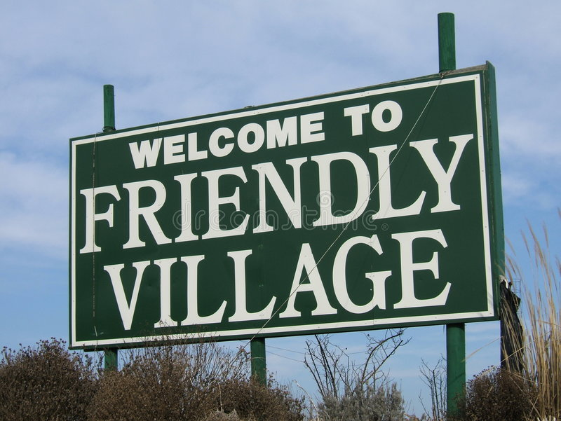 Download Welcome To Friendly Village Stock Photo - Image: 103946