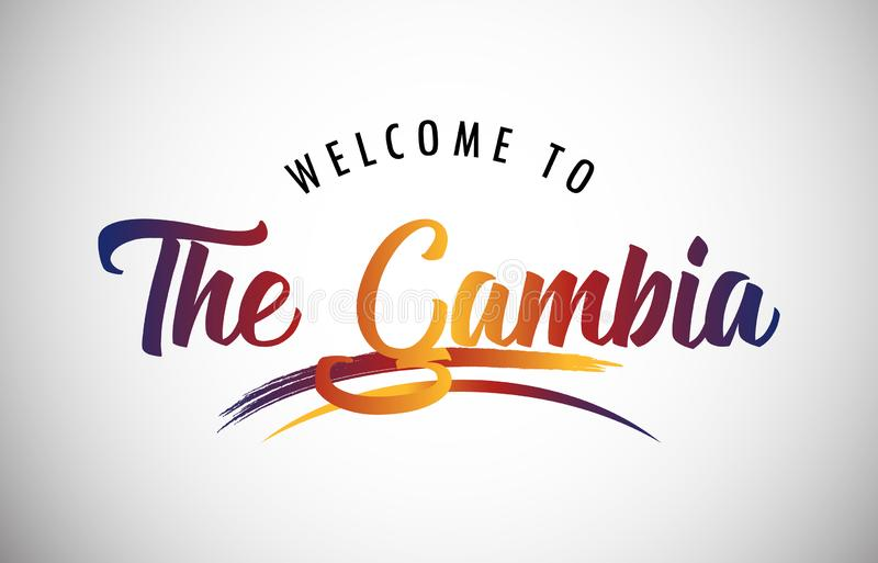 Welcome to The Gambia stock image