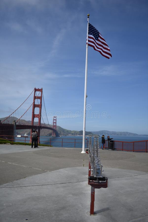Welcome to the Golden Gate Bridge, how suspension bridges work, 2. Although exaggerated, this scale model of the Golden Gate Bridge shows how suspension bridges stock photos