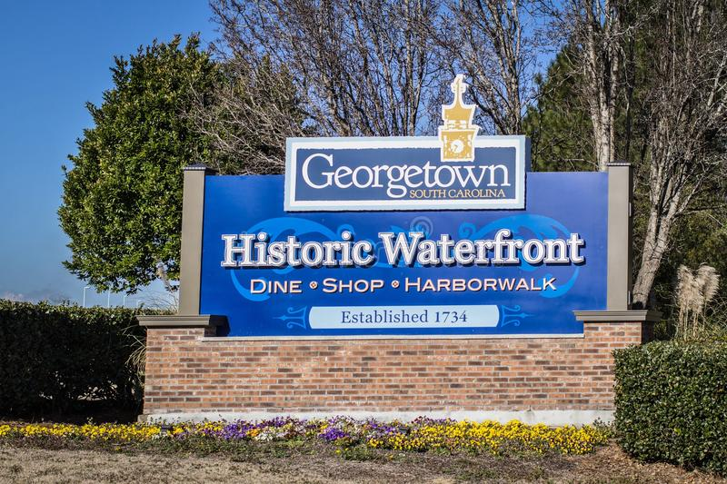 Welcome To Historic Georgetown royalty free stock photography