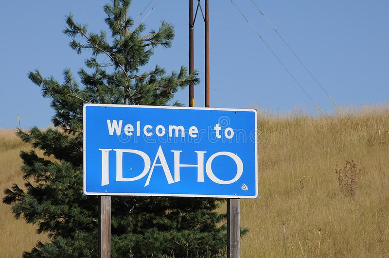 Welcome to idaho united states of america. UNIONTOWN/WASHINGTON /  02 September 2019 /  Welcome to idaho state united states of America stock image