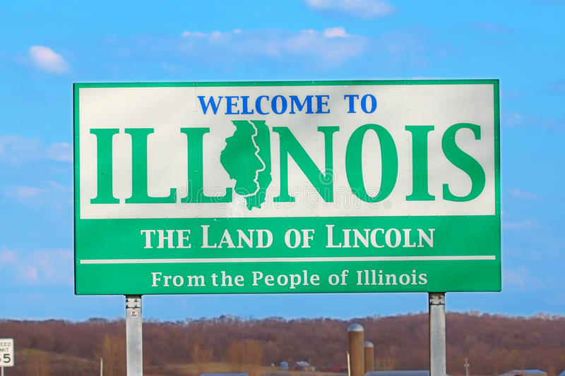 Welcome to Illinois Sign royalty free stock image