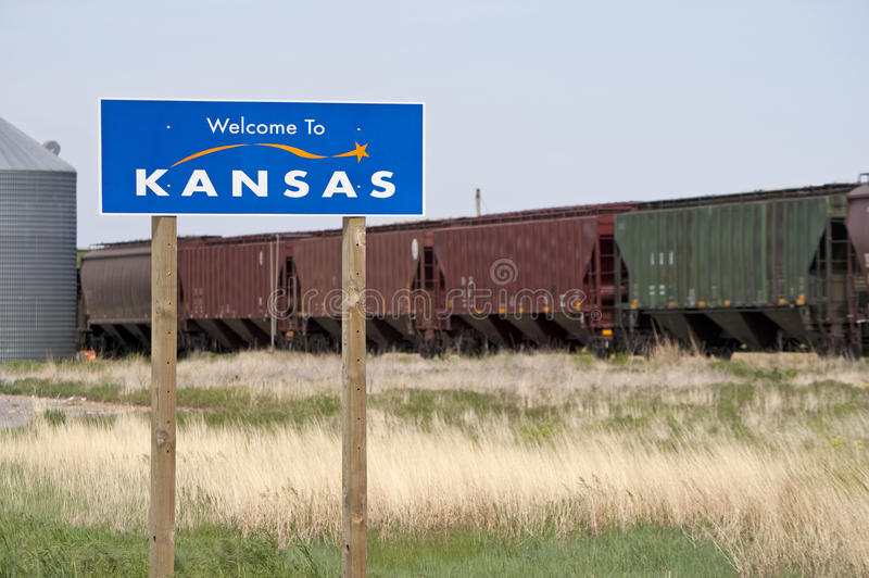 Welcome to Kansas royalty free stock image