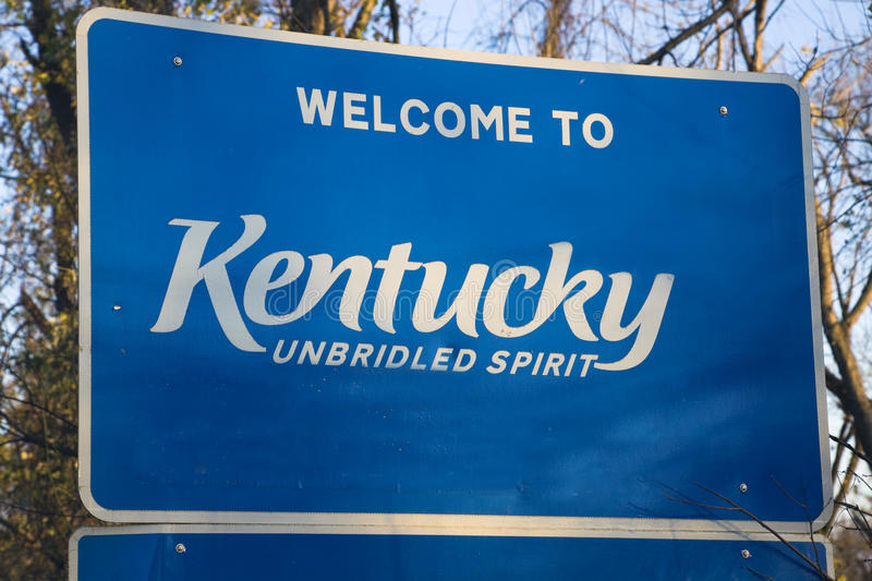 Welcome to Kentucky royalty free stock photos