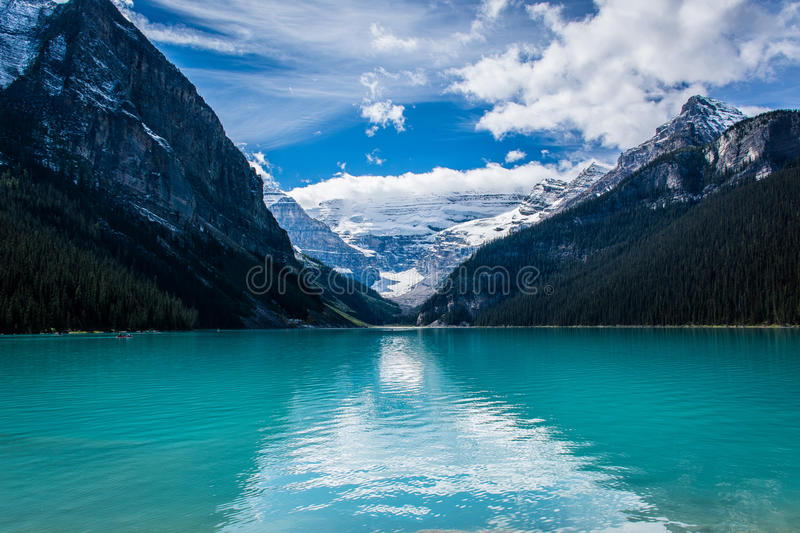 Welcome to Lake Louise. royalty free stock photos