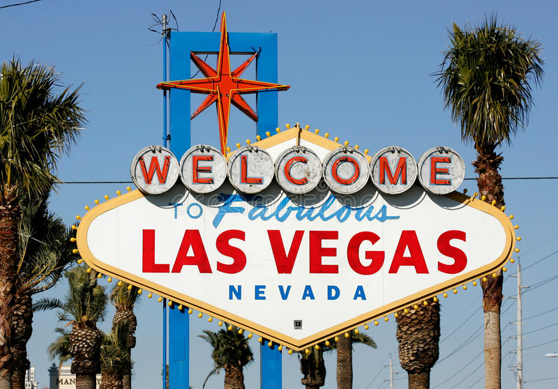 Welcome To Las Vegas Sign Editorial Stock Photo