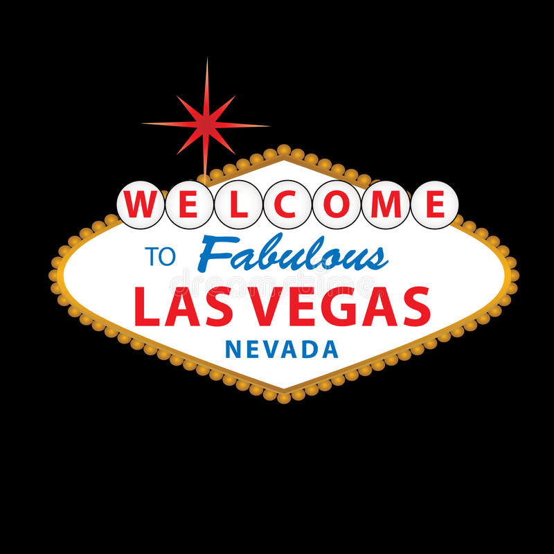 Download Welcome to Las Vegas Sign stock vector. Illustration of star - 14618407