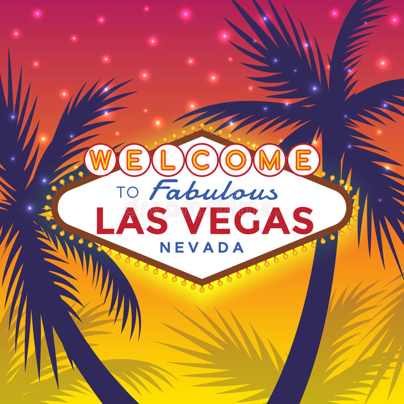 Welcome to Las Vegas Sign vector illustration