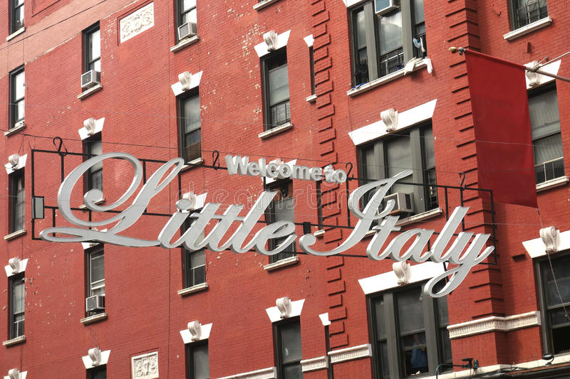 Welcome to Little Italy royalty free stock photos