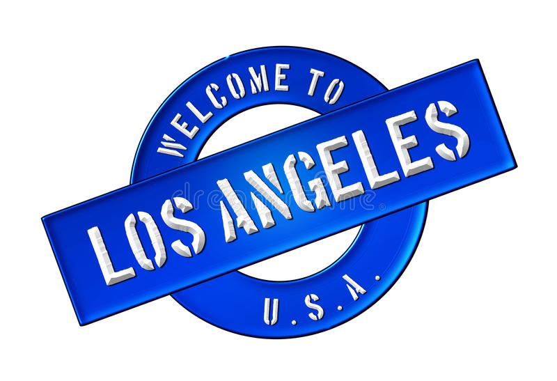 Download WELCOME TO LOS ANGELES stock illustration. Illustration of symbol - 25437437