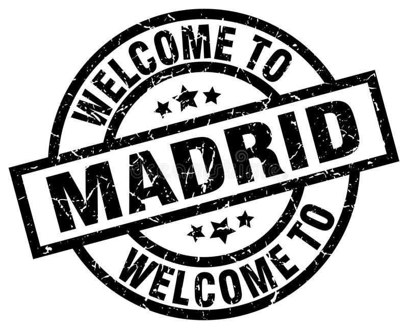 Welcome to Madrid stamp. Welcome to Madrid round grunge stamp isolated on white background. Madrid. welcome to Madrid royalty free illustration