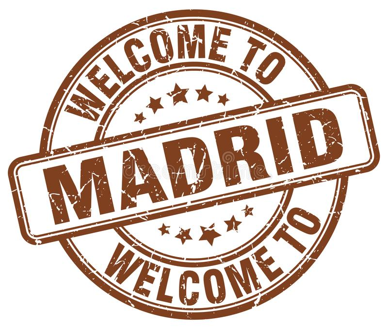 Welcome to Madrid stamp. Welcome to Madrid round grunge stamp isolated on white background. Madrid. welcome to Madrid vector illustration