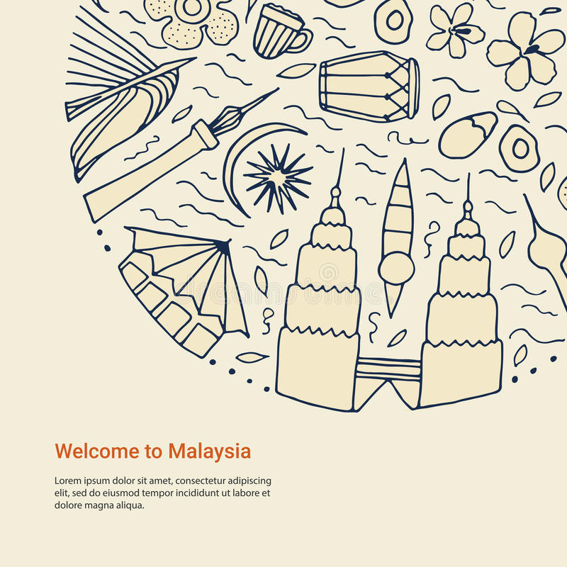 Download Welcome To Malaysia Design Concept Stock Illustration