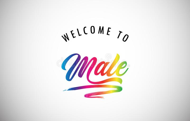 Welcome to Male poster royalty free stock image