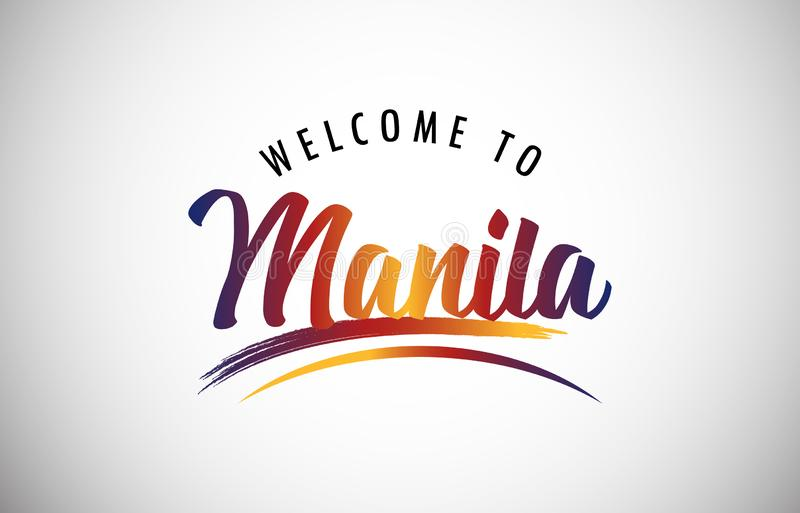 Welcome to Manila royalty free stock images