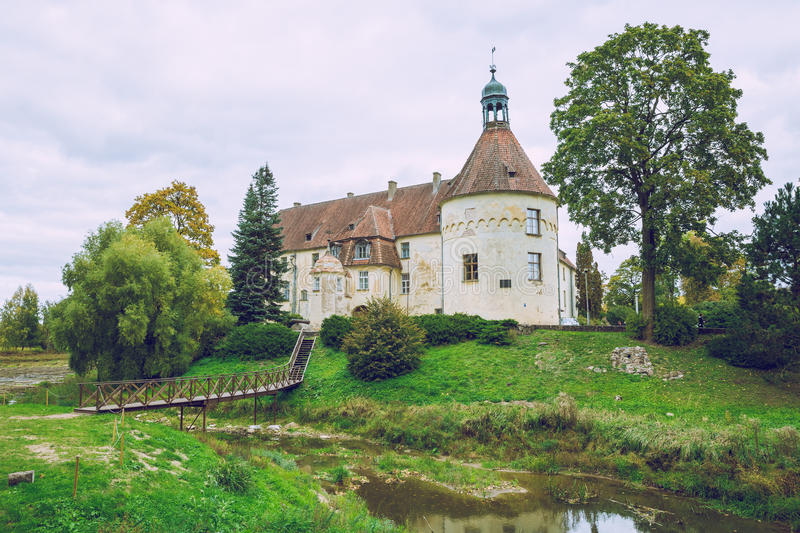 Welcome to medieval castle in Bauska. 2016 royalty free stock photo