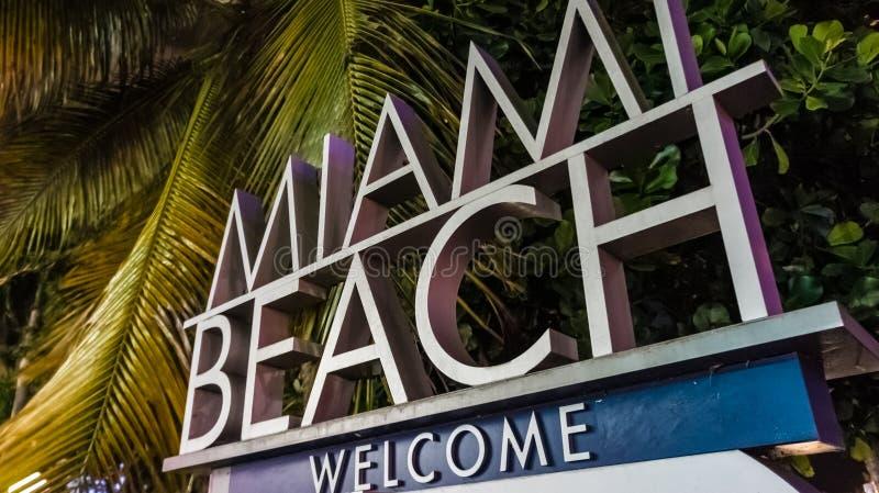 Welcome to Miami Beach!. You have now entered Miami Beach, welcome stock photos