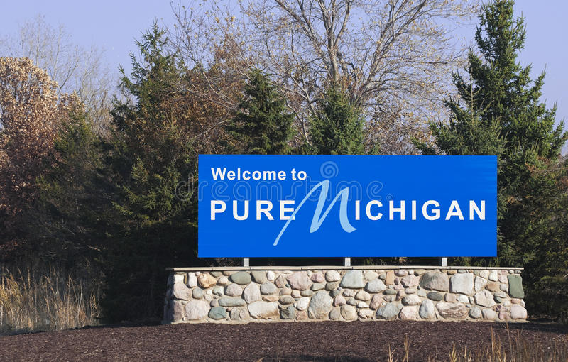 Welcome to Michigan stock images