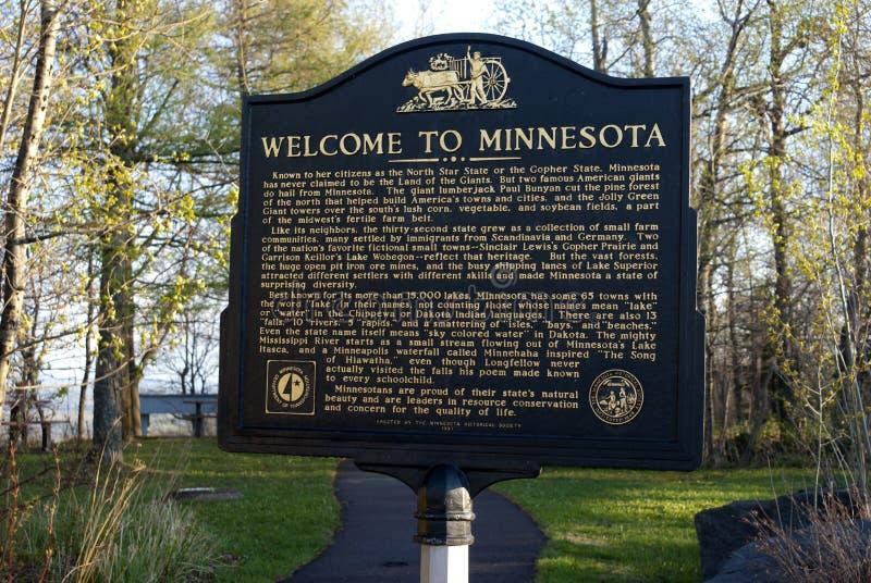 Welcome to Minnesota stock image