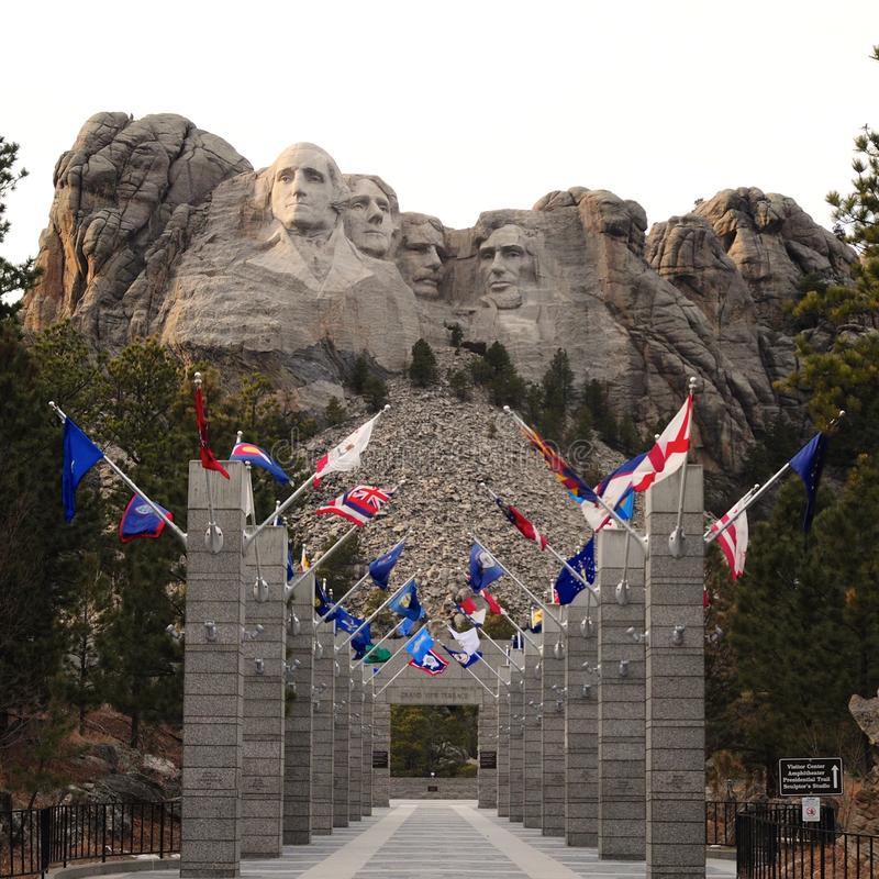 Welcome to Mount Rushmore stock image