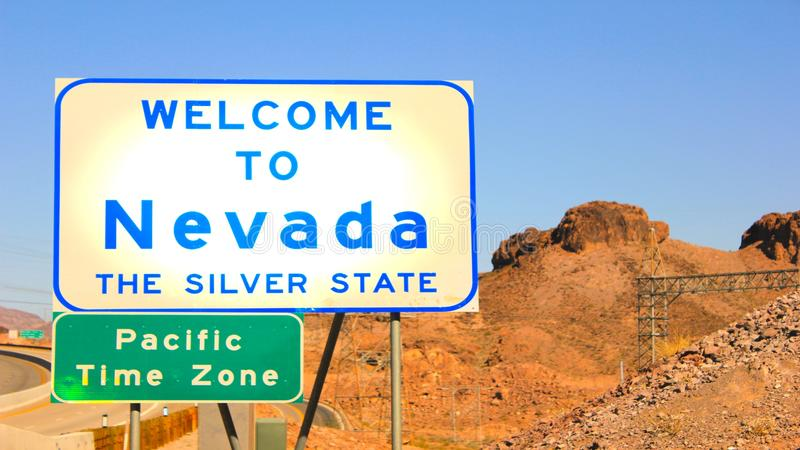 Welcome To Nevada! stock photo