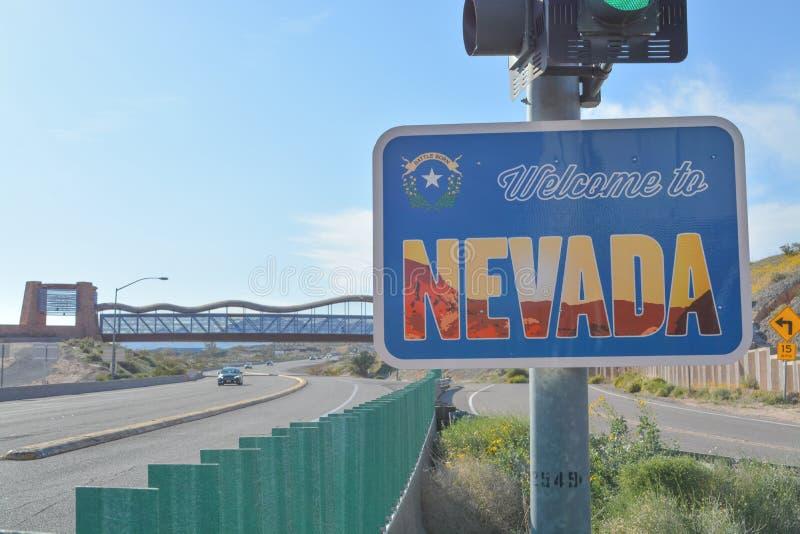 State Border sign, Hoover Dam, Arizona/Nevada, USA Stock