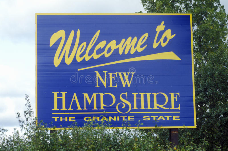 Welcome to New Hampshire stock image