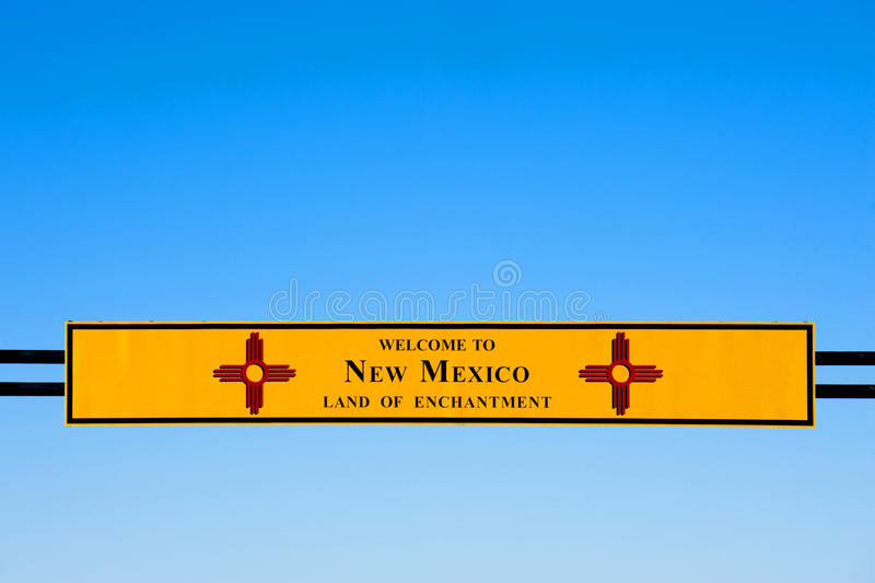 Download Welcome to New Mexico stock photo. Image of greetings - 17915674