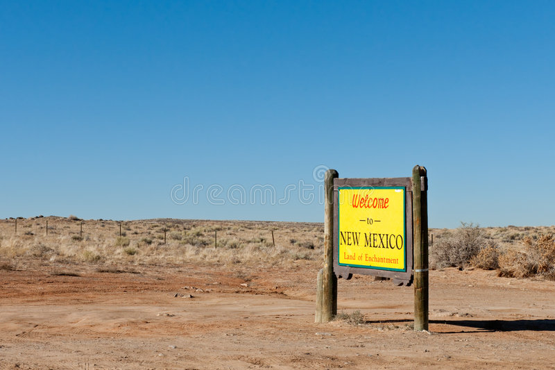 Welcome to New Mexico Sign stock image