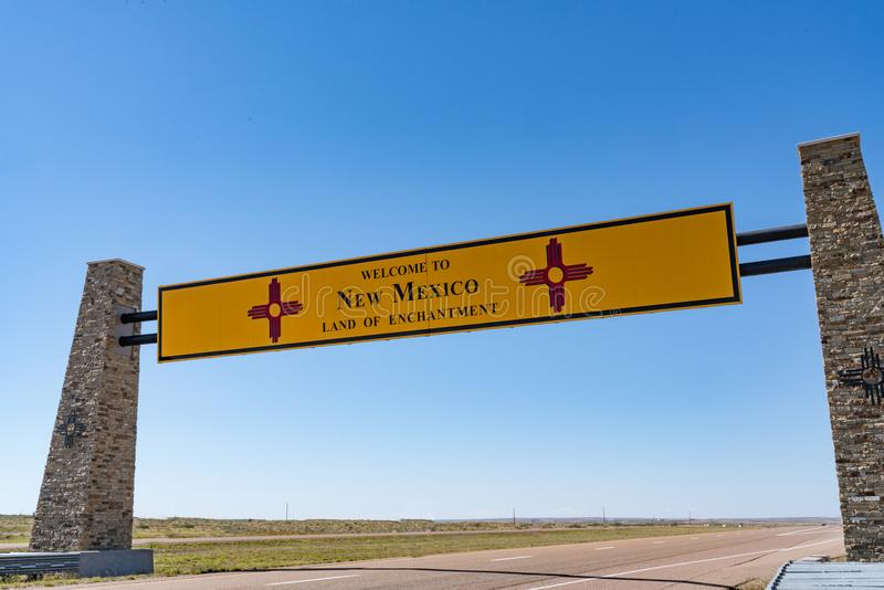 Welcome to New Mexico Sign royalty free stock images