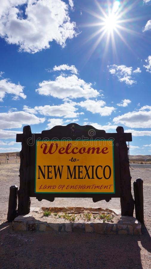 Welcome to New Mexico state concept stock photos