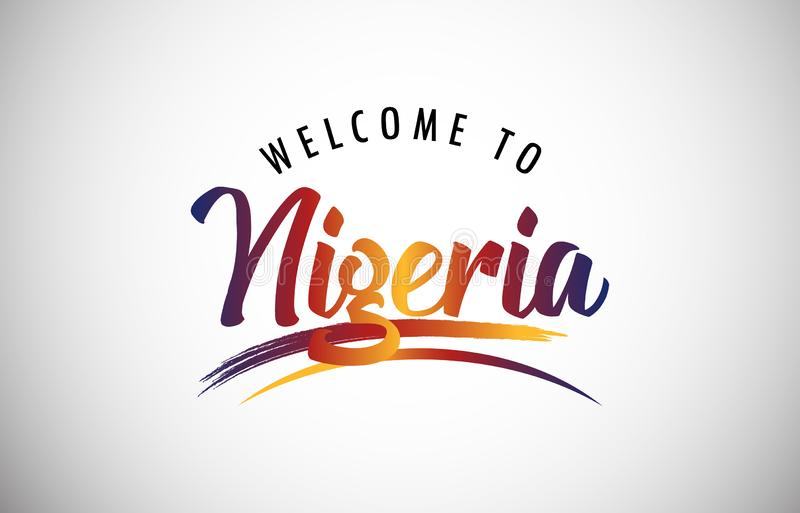 Welcome to Nigeria stock image
