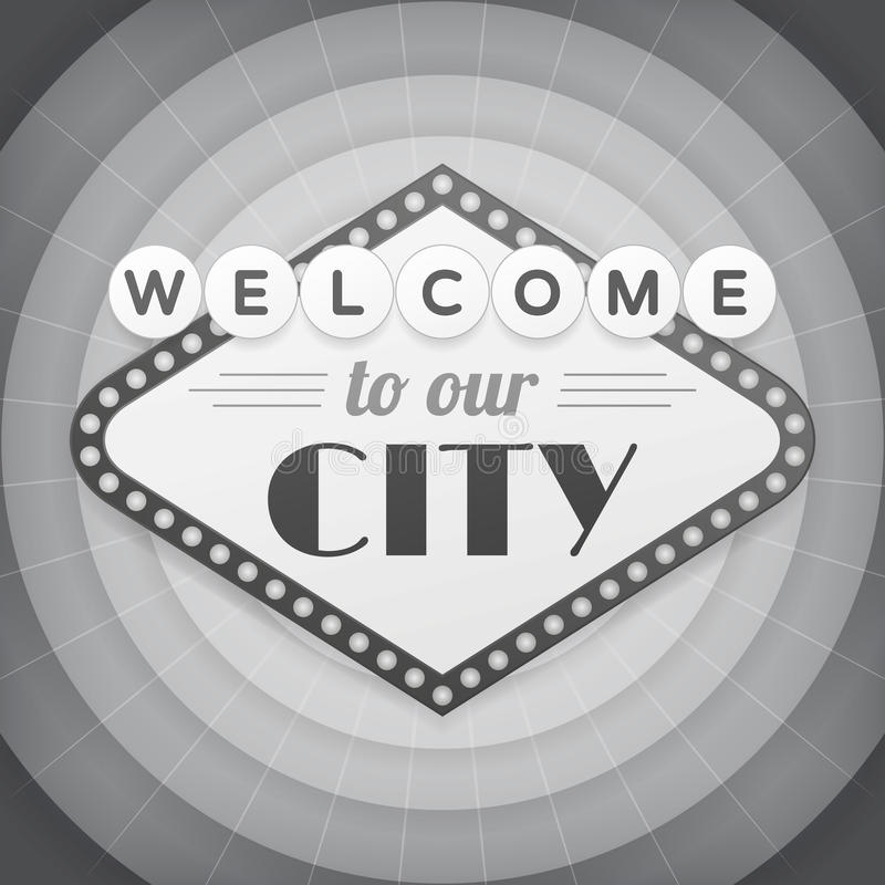 Download Welcome To Our City Vintage Background Poster Stock Vector - Illustration: 43301494