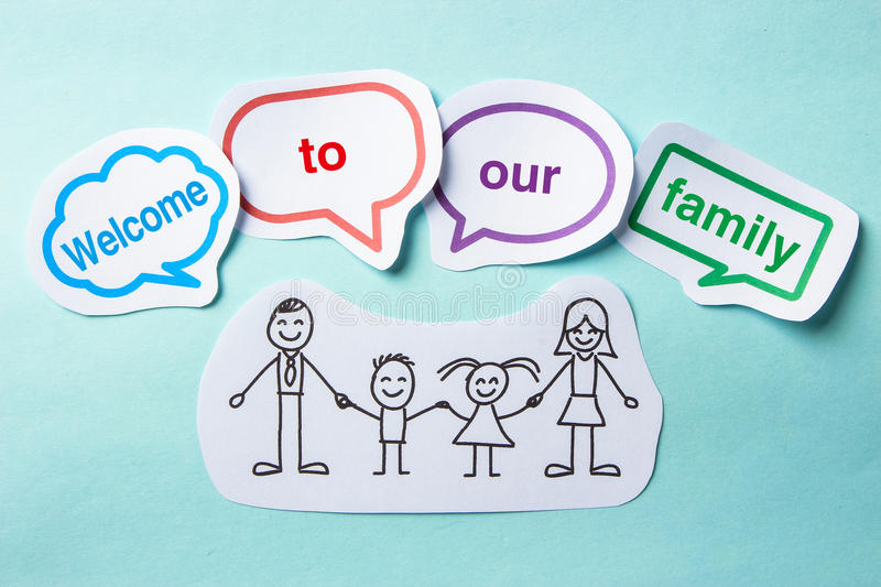 Welcome to our family stock photos