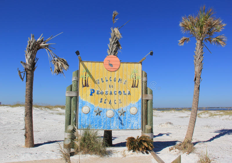 Download Welcome to Pensacola Beach stock image. Image of seaside - 28254271