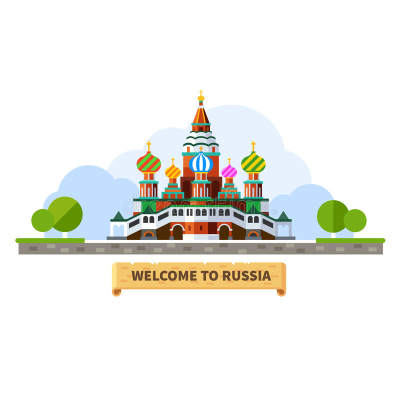 Welcome to Russia royalty free illustration
