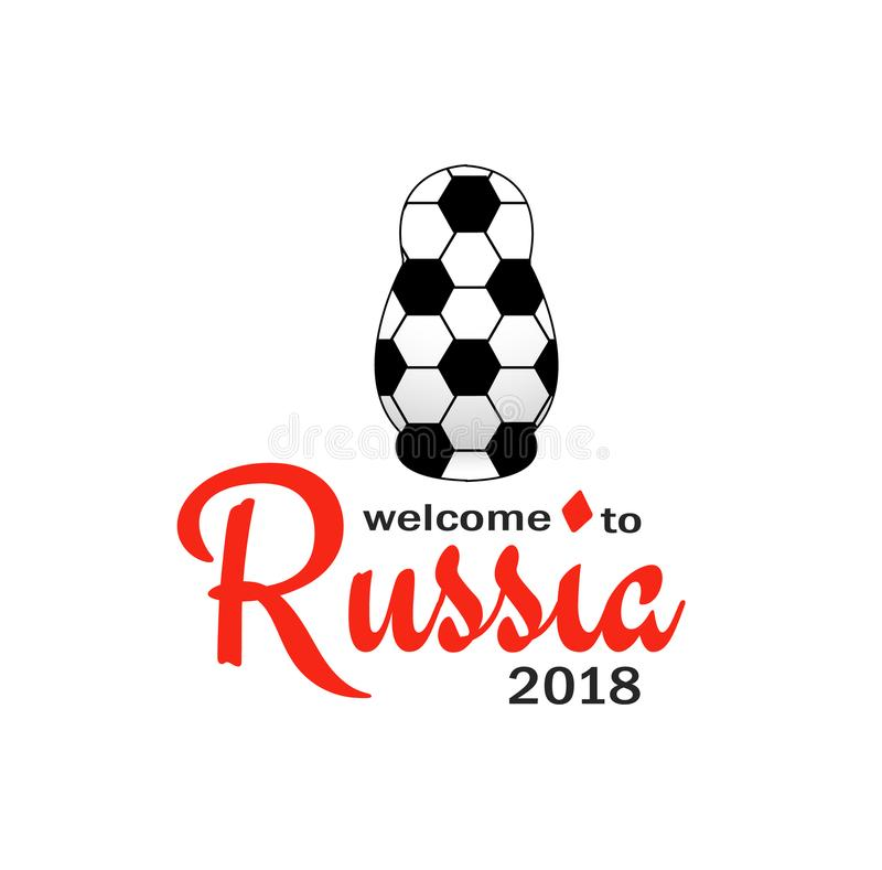 Welcome to Russia. World Cup 2018. vector illustration